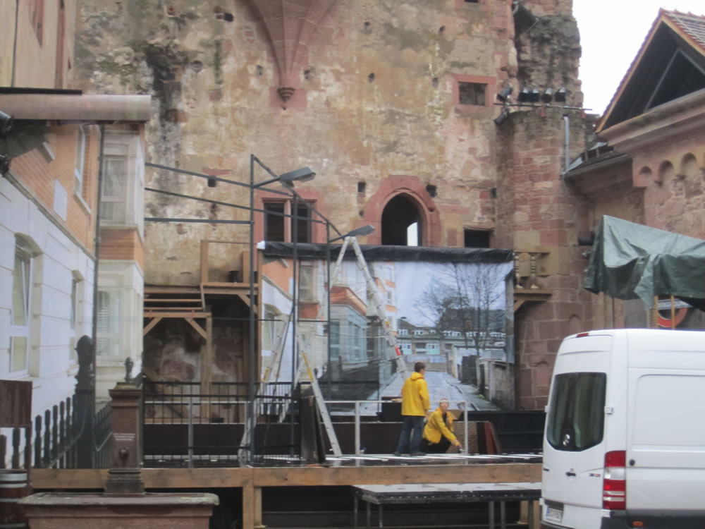 Stage in Heidelberg Castle Courtyard