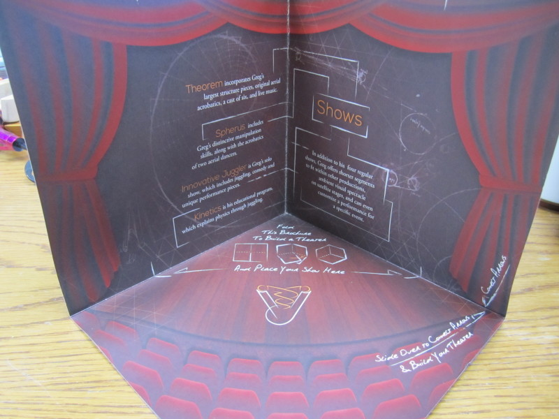 brochure theater