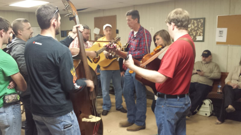 Various Bluegrass groups enjoyed a casual jam session in various rooms while the main acts performed on stage.