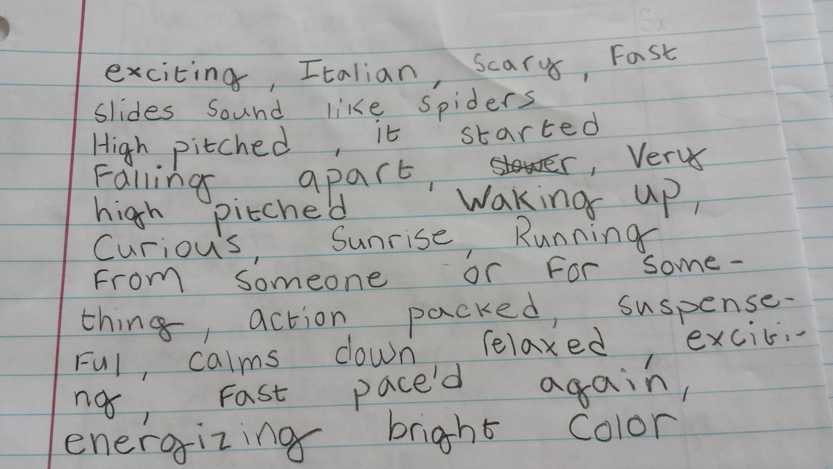 What If Program Notes Were Written By Kids